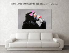 DJ MONKEY GIRLFRIEND , CANVAS ART BOX/ PHOTO/ PRINT A4, A3, A2, A1, NOT BANKSY