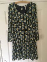 Pepperberry Bravissimo Dress Really Super Curvy Blue,Green, Size UK 14. Ex.Con