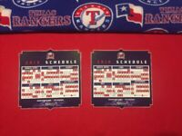 Two (2) Texas Rangers 2019 Opening Day Magnetic Schedules SGA