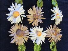 Vintage Millinery Flower KS7 Playful 6pLot Daisy Yellow