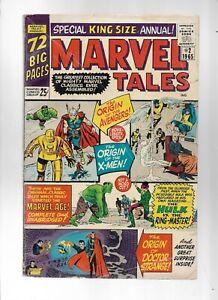 MARVEL TALES KING-SIZE #2 - HULK VS THE RING MASTER! - (4.0) 1965