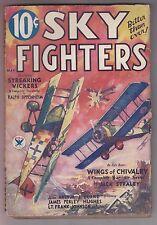 Sky Fighters May 1934 Air War Pulp Mag Arthur Burkes Jack Straley Syl MacDowell