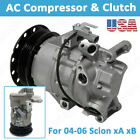 A/C Compressor with Clutch Fit for 2004 2005 2006 Scion xA/Scion xB 1.5L 5SE09C