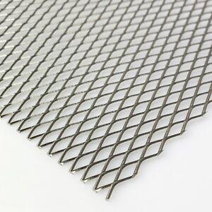 Edelstahl Streckmetall/ Streckgitter Maschenweite 16mm x 6,5mm x 1mm x 1mm
