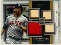 XANDER BOGAERTS 2020 TOPPS MUSEUM COLLECTION CARD RELIC GU JERSY #d/99 RED SOX