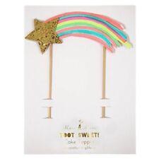 Meri Meri Toot Sweet Cake Topper Shooting Star Glitter Rainbow Cake Decoration