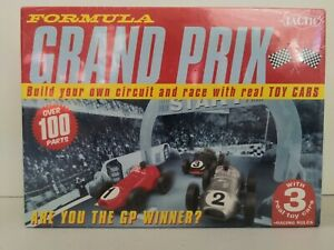 Formula Grand Prix Board Game 3 Real Toy Cars Build Track Over 100 Pieces Family