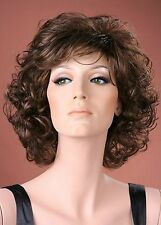 Ladies Full Soft Curls Medium Brown Fashion Wig