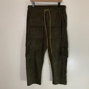 MNML CORDUROY SNAP II CARGO PANTS MEN'S SIZE XL - OLIVE