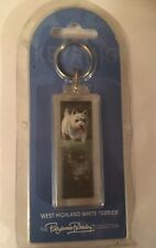 West Highland White Terrier dog Westie water keyring acrylic double sided