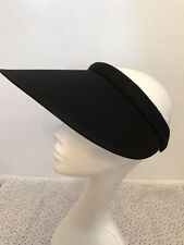 Women Lady Fashion Large Clip On Visor Wide Brim Sun UV Protection Cap -Black