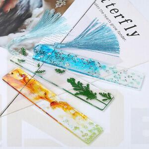 2pcs Rectangle Silicone Bookmark DIY Making Mold Epoxy Resin Jewelry Mould Kits