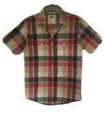 Vans Mens Plaid Cotton Short Sleeve T Shirt S (C834)