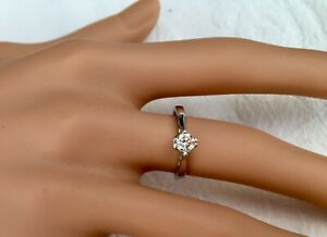 18CT White Gold Diamond Solitaire 0.30 carat Ring with 2015 cert.