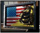 Large Metal American Flag Wall Art steel framed Sculpture Patriotic USA made