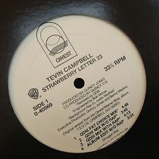 """TEVIN CAMPBELL STRAWBERRY LETTER 23 12"""" PRINCE 1991 QWEST 0-40569 DJ PROMO"""