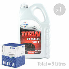 Engine Oil and Filter Service Kit 5 LITRES Fuchs Titan Race Pro S 5W-30 5L