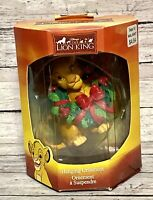 Lion King Simba Hanging Ornament Department 18 Disney Wreath Berries Enesco IOB