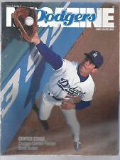Dodgers vs Phillies Scorecard 1991 Brett Butler on Cover Excellent RARE