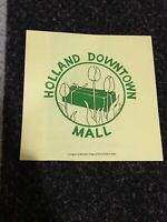 Vintage 1984 Holland Michigan Downtown Mall Pamphlet Brochure Map Shopping Guide