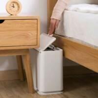 Bathroom Trash Can 11L Plastic Narrow Toilet Waste Bin Dustbin Garbage Bucket