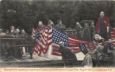 BISHOP POTTER CENTENIAL CELEBRATION COOPER PARK COOPERSTOWN NEW YORK POSTCARD