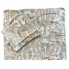 Pottery Barn Blythe Paisley Neutral Standard Pillow Sham Cotton Sateen Set Of 2