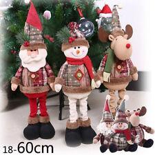 18/60cm Snowman Elk Santa Claus Standing Sitting Doll Christmas Toy Xmas Decor