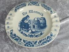 Royal Goedewaagen Keramik Blue Delfts Oud Blauw Aschenbecher Wandteller Monnik