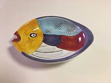 FISH POTTERY BOWL   MADE IN ITALY