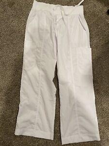 Peaches Womens White Scrub Pants 7438P Small