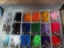 100 Art Craft Cordon DANGLE Bracelet Lariat Téléphone mobile charme couleurs assort sauts