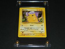Pokemon Base Set 1 COMMON Pikachu 58/102 - MINT Condition - Ultra-Pro Screwdown