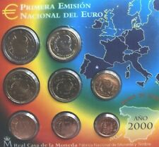 Spain Coins Set 2000 BUNC 8x 1cent To 2€ Euro Official First Emission
