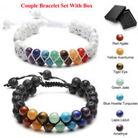 Couples Bracelets Lovers Bracelet His & Hers Weaving Distance Bracelet Set Kit