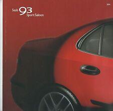 Saab 93 Sport Saloon UK  Brochure 2004