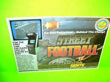 Sente STREET FOOTBALL Original NOS 1985 Video Arcade Game Sale Flyer Electrocoin