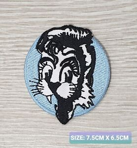 STRAY CATS WHITE AND BLUE biker logo Embroidered Iron /Sew On Patch Badge