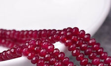 "4x6mm Natural Faceted Brazil Red Ruby Abacus Gems Loose Beads 15"" AAA"