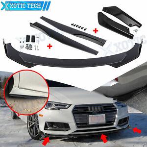 Black Front Bumper Spoiler Guard Body Kit / Side Skirt /Rear Lip for Audi A4 A5