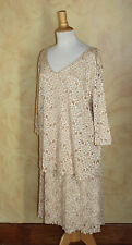 JTB Crystal Lace ~MOB~ Art-to-Wear Floral Skirt Tunic Knit Top Outfit Set Sz 1X
