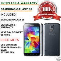 Samsung Galaxy S5 SM-G900F 16GB 4G Unlocked Smartphone Charcoal Black UK GRADE C