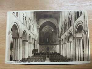 "ANTIQUE RPPC REAL PHOTO POSTCARD ""NAVE EAST, ROCHESTER CATHEDRAL"" UNPOSTED"