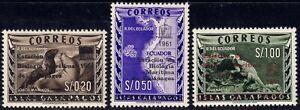 1961 Ecuador SC# 684-686 - Galapagos Island Nos. L1-L3 Overprinted - M-HR