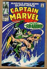 Captain Marvel #4 - Cap Marvel vs. Namor CVR! - 1968 (Graded 4.0) WH