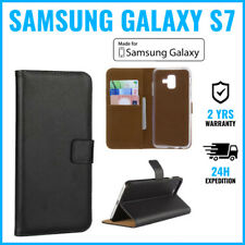 Wallet Flip Case Cover Cas Coque Etui Hoesje Black For Samsung Galaxy S7