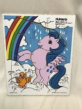1984 PLAYSKOOL Sprinkles & Duck Soup Wooden Tray Puzzle Hasbro My Little Pony