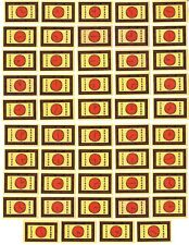 49 CLOCK BRAND Soviet Latvia Matchbox Labels For Export to UK / MF BALTIJA #F14