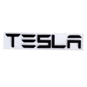 Matte Black TESLA Letters Car Trunk Lid Emblem for Tesla Model 3 S X Y Roadster