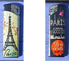Briquet jetable neuf Dora Paris, dessin motifs vifs recto-verso différents